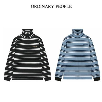 (ORDINARY PEOPLE) ORDINARY HIGH NECK STRIPE T-SHIRT 2色