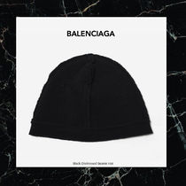 AW16新入荷 バレンシアガ Black Distressed Beanie Hat