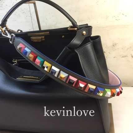 Rare FENDI STRAP YOU multicolor Lexi glass studded with gray