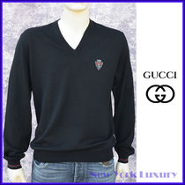 GUCCI★グッチ★素敵!Black Wool V-Neck Sweater