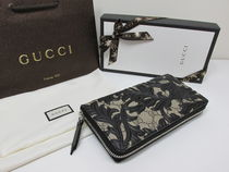 GUCCI★セール★ARABESQUE FULL ZIP WALLET BLACK