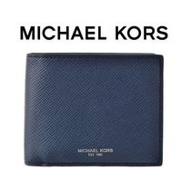 ☆Michael Kors☆ HARRISON Leather Billfold 折り財布 NAVY♪