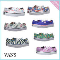 【VANS】Authentic キッズ プリント スニーカー (7 色)