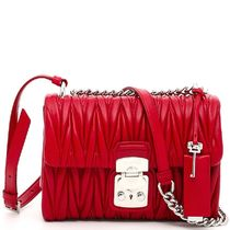 MM052 'MATELASSE' FLAP SHOULDER BAG
