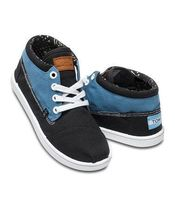 TOMS(トムス) キッズシューズ・靴その他 ★TOMS Youth Canvas Botas Blue Black Block★