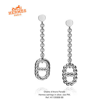 *HERMES*Chaine d'Ancre Paradeシルバーピアスsize PM