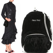 MM054 'MATELASSE' VELVET MICRO BACKPACK