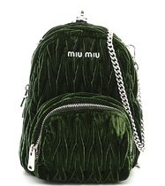 MM056 'MATELASSE' VELVET MICRO BACKPACK