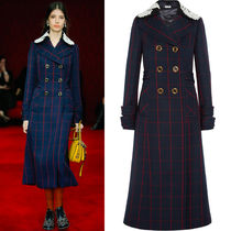 MM061 LOOK1 DOUBLE BREASTED WOOL COAT WITH DETACHABLE COLLAR