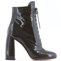 MM065 PATENT LEATHER ANKLE BOOTS