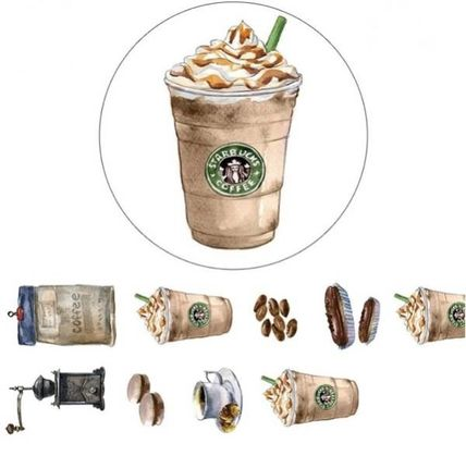 Overseas on ur wall Starbucks masking tape frappuccino