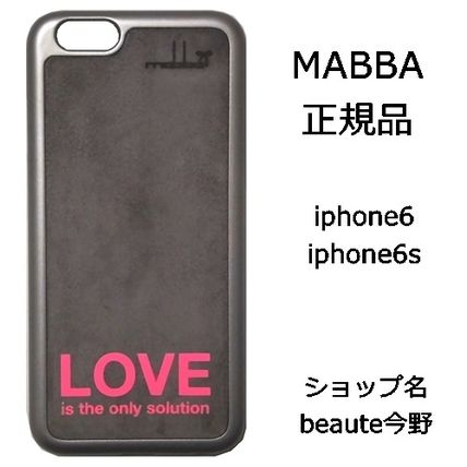 mabba iPhone・スマホケース mabba Love is the only Solution iPhone 6 6s Case Slogan 即納