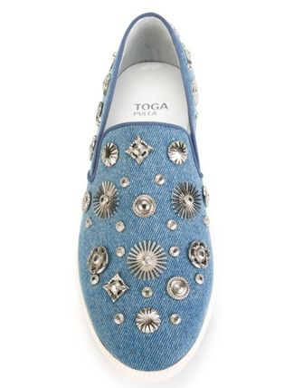 TOGA Slip-on metal sneakers denim shoes shoes