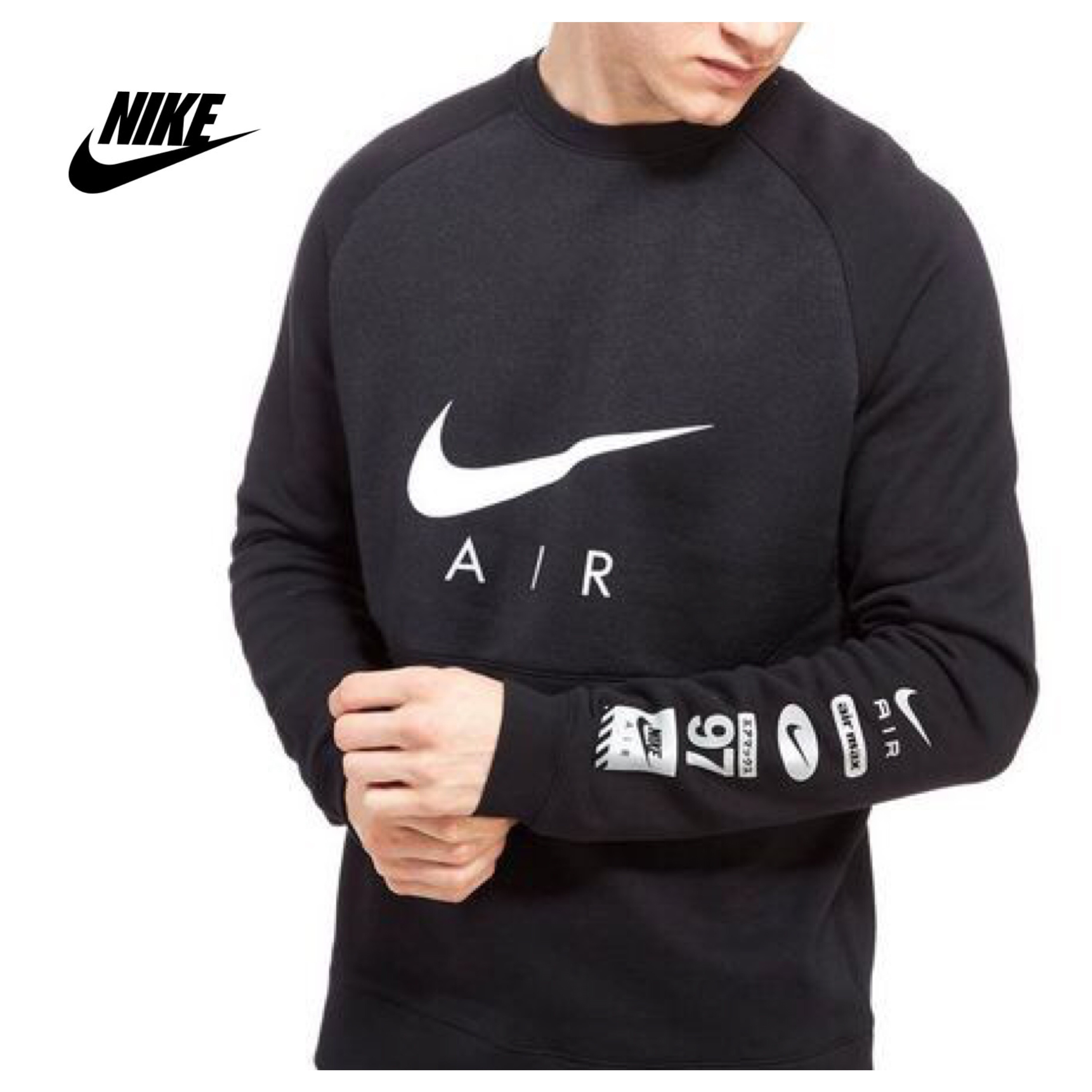 Nike Air Hybrid Crew Sweatshirt Black