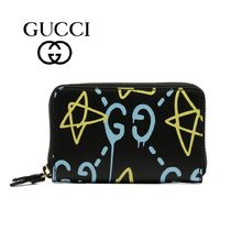 GUCCI Gucci Ghost Leather Wallet
