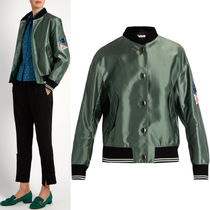 MM080 SATIN BOMBER JACKET WITH APPLIQUE