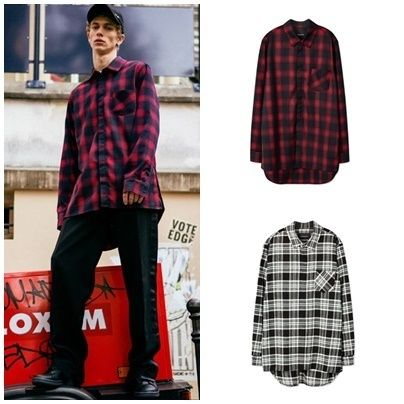 日本未入荷ANDERSSON BELLのMARTIN CHECK LONG SHIRT 全2色