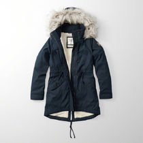【国内即発送!】アバクロ SHERPA-LINED MILITARY PARKA★NAVY★