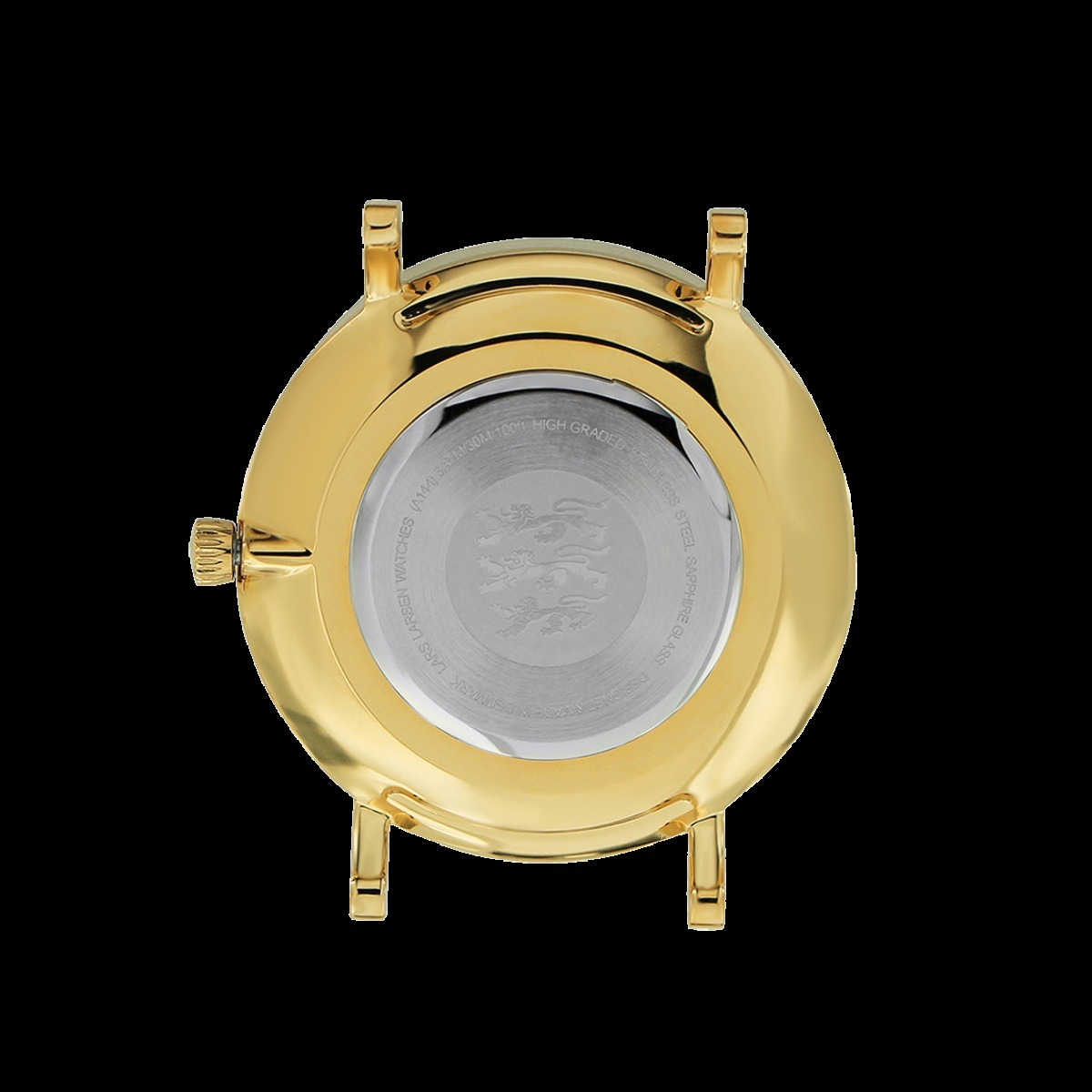 ☆LARS LARSEN☆GOLD WATCH WHITE DIAL