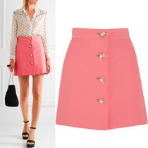 MM091 CADY MINI SKIRT WITH JEWEL BUTTON