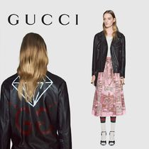 GUCCI GucciGhost Leather Biker Jacket