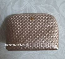 【sale!】Tory Burch-MARION EMBOSSED METALLIC COSMETIC CASE
