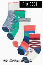 Red/Navy/White Print Socks Five Pack ♪