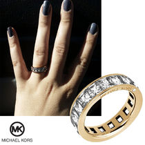 送料&関税込♪ Michael Kors☆ WIDE PAVED ETERNITY RING
