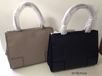 【超お買い得】 TORY BURCH★ELLA CANVAS LEATHER TOTE*2色
