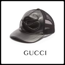 【17SS】GUCCI|スネーク柄 レザーキャップ