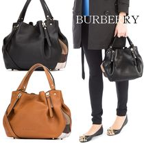 17SS BURBERRY チェックディテール・レザー・トート Small 39636