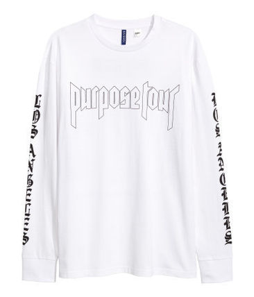 H&M Tシャツ・カットソー FW16 H&M JUSTIN BIEBER PURPOSE TOUR L/S PAINTED TEE 送料無料
