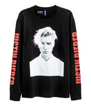 FW16 H&M JUSTIN BIEBER PURPOSE TOUR L/S PAINTED TEE 送料無料