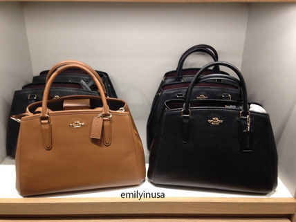 Coach ハンドバッグ COACH★12月新作★SMALL MARGOT 2way F57527*Black/Saddle