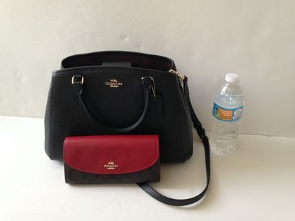 Coach ハンドバッグ COACH★12月新作★SMALL MARGOT 2way F57527*Black/Saddle(14)