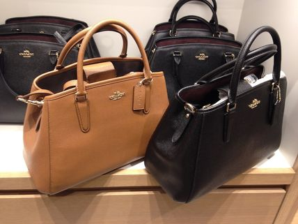 Coach ハンドバッグ COACH★12月新作★SMALL MARGOT 2way F57527*Black/Saddle(2)