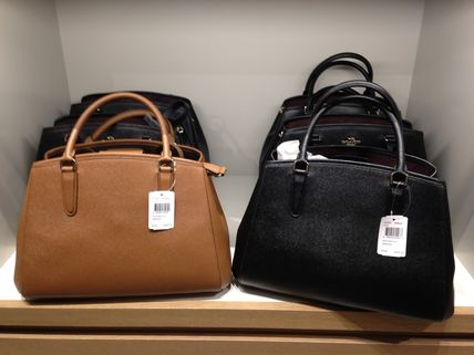 Coach ハンドバッグ COACH★12月新作★SMALL MARGOT 2way F57527*Black/Saddle(3)