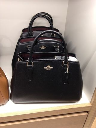 Coach ハンドバッグ COACH★12月新作★SMALL MARGOT 2way F57527*Black/Saddle(9)