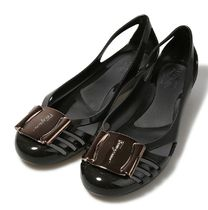 【関税負担】  FERRAGAMO JELLY SHOES NERO