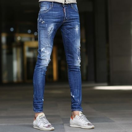 DSQUARED2 17SS damage & repair machining jeans _SEXY TWIST