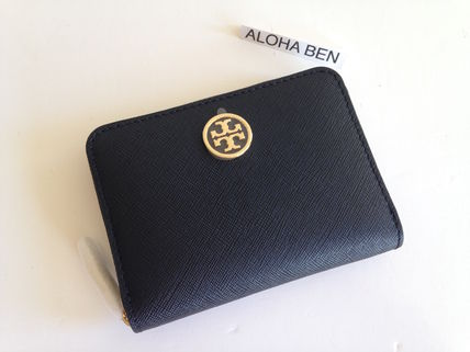 Tory Burch ROBINSON  ZIP COIN CASE / Black