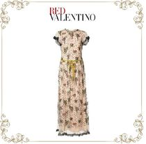 【17SS】★RED VALENTINO★floral embroidery long dress