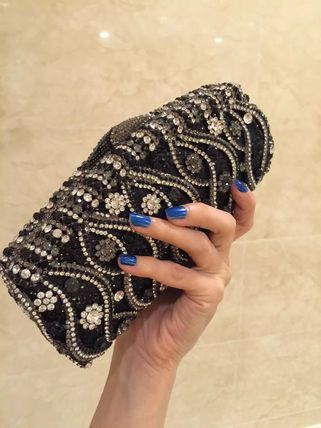 Rhinestone chain bag wedding party
