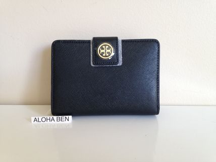 TORY BURCH ROBINSON FRENCH FOLD WALLET / Black