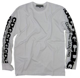 popular COMME des GARCONS sleeves logo long sleeve t-shirt