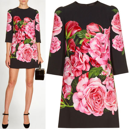 17th SS DG808 ROSE PRINTED CREPE MINI DRESS