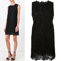 17SS DG812 FLORAL HEAVY LACE SLEEVELESS DRESS