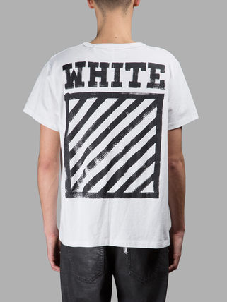 Aw36 OFF WHITE-off white DIAGONALS t-shirt day