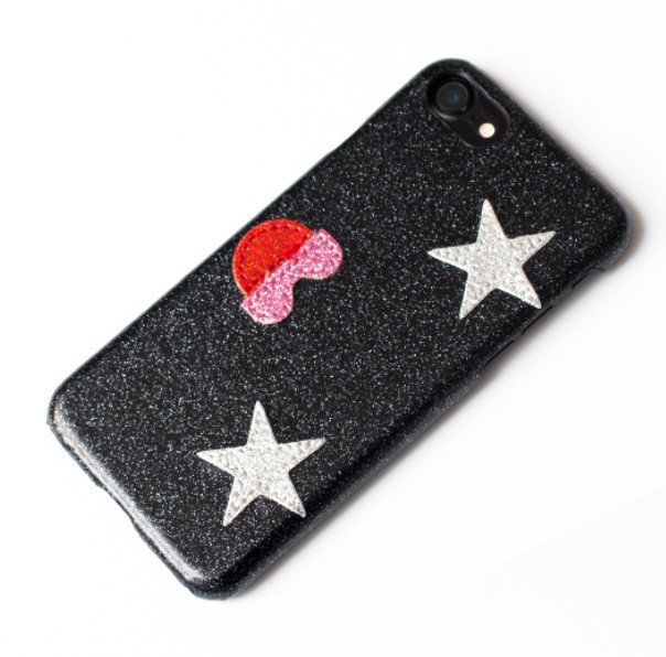 ◆IPHORIA◆ [IPHONE 7] black kiss me star case