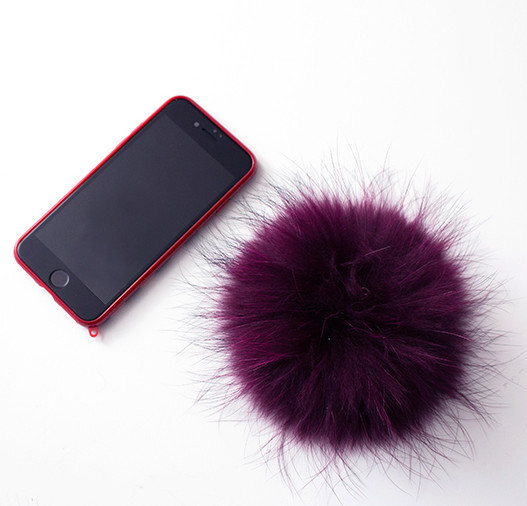 ◆IPHORIA◆ [IPHONE 7] monster pink stripe case with pompom